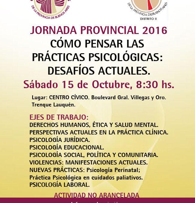 Jornada Provincial 2016 en Trenque Lauquen
